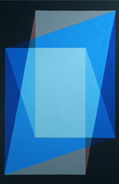 Blue - oil on canvas - 120cm x 80cm (horizontal or vertical ) - Galeria Nicoli