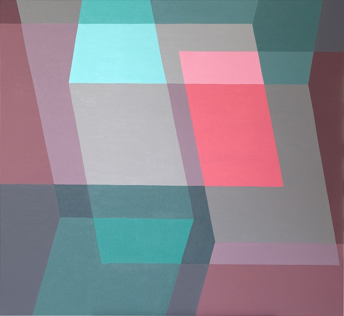 Green and Pink - oil on canvas - 120cm x 110cm