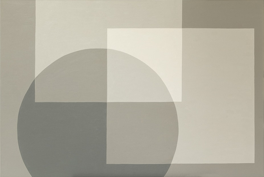 Gray Circle - oil on canvas - 120cm x 80cm