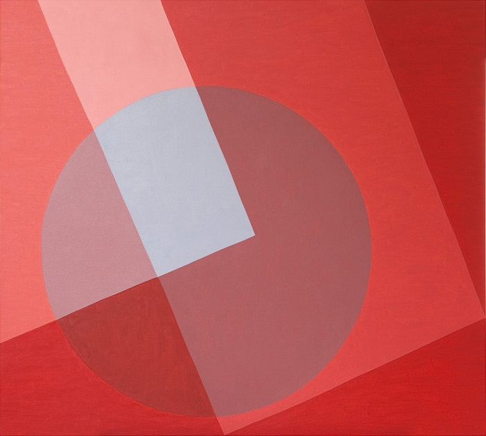 Red Circle - oil on canvas - 90cm x 100cm - Galeria Nicoli