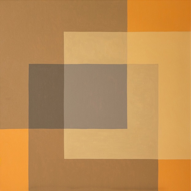 Orange Square - oil on canvas - 90cm x 90cm - Galeria Nicoli